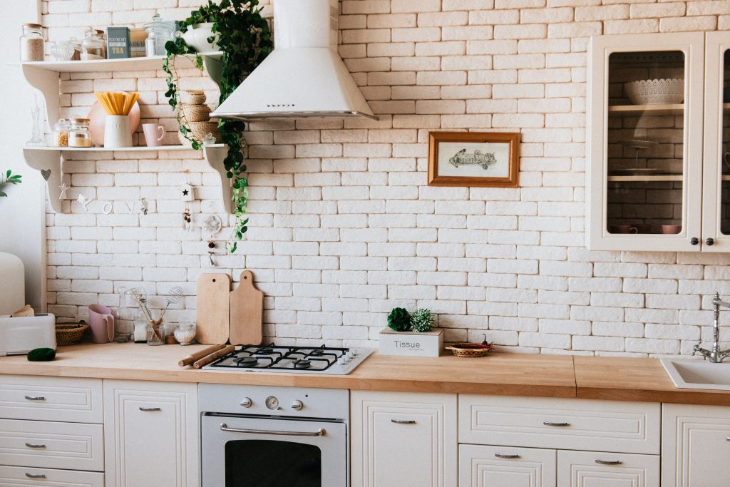 instagram worthy kitchen with greenery and plants